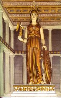 athena statue golden